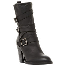 Buy Steve Madden Wen Block Heeled Calf Boots Online at johnlewis.com
