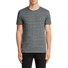Buy AllSaints Paver Tonic Crew Neck T-Shirt, Dark Grey Online at johnlewis.com
