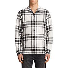 Buy AllSaints Matterhorn Long Sleeve Printed Shirt, Ecru Online at johnlewis.com