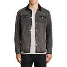 Buy AllSaints Genki Denim Shirt, Grey Online at johnlewis.com