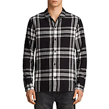 Buy AllSaints Matterhorn Long Sleeve Printed Shirt, Black Online at johnlewis.com