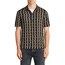 Buy AllSaints Laurel Printed Short Sleeve Shirt, Black Online at johnlewis.com