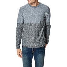 Buy Selected Homme Tyga Colour Block Jumper, Vintage Indigo Online at johnlewis.com