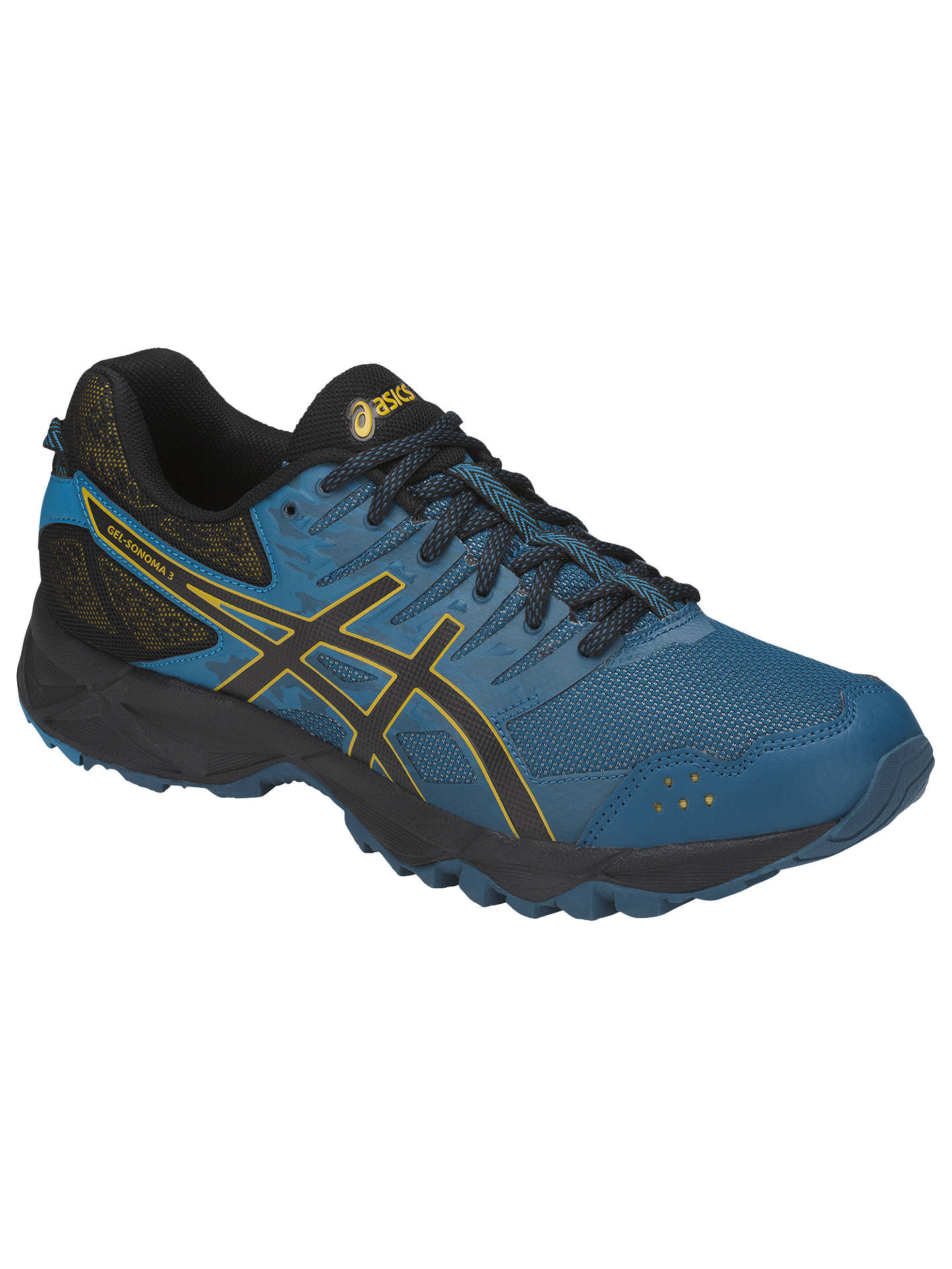 3befc8b0 Asics GEL-SONOMA 3 Men's Trail Running Shoes, Blue at John Lewis ...