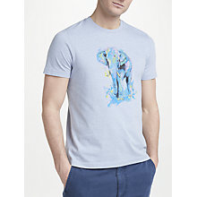 Buy John Lewis Elephant Water Colour T-Shirt, Blue Online at johnlewis.com