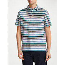 Buy John Lewis Jack Stripe Polo Shirt, Grey Online at johnlewis.com
