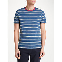 Buy John Lewis Wyatt Stripe T-Shirt, Navy Online at johnlewis.com
