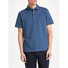 Buy John Lewis Simon Stripe Polo Shirt, Navy Online at johnlewis.com