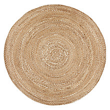 Buy Croft Collection Jute Round Rug, Natural, Dia.180cm Online at johnlewis.com