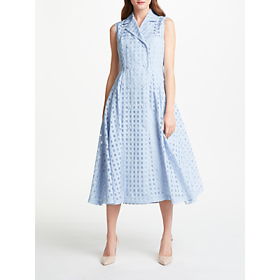 Bruce by Bruce Oldfield Check Sleeveless Dress, Blue