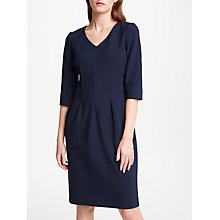 Buy Bruce by Bruce Oldfield V-Neck Pleated Dress, Navy Online at johnlewis.com