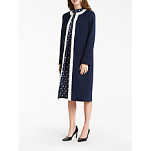 Buy Bruce by Bruce Oldfield Tipped Long Jacket, Navy/White Online at johnlewis.com