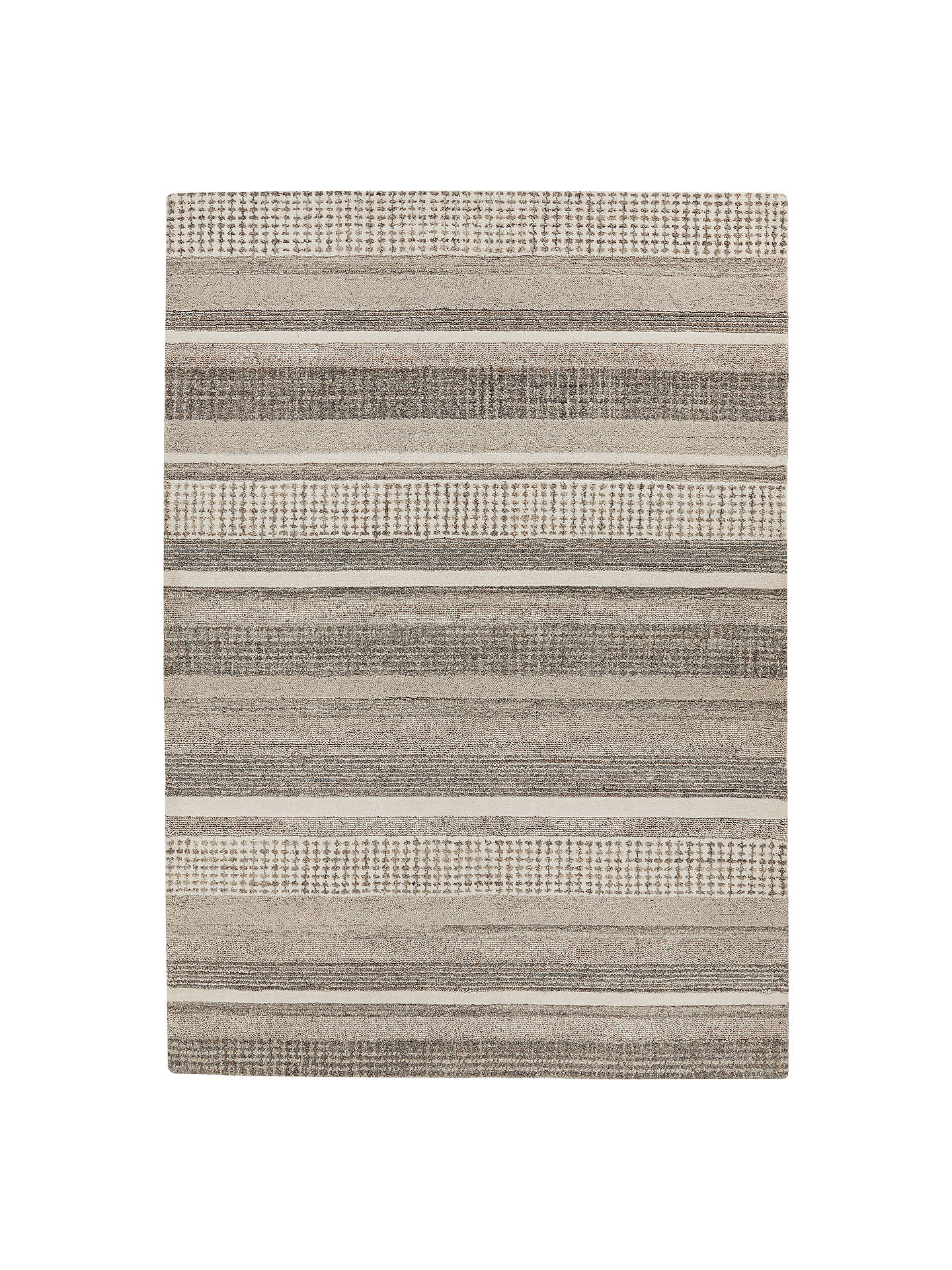 John Lewis Partners Mosserud Stripe Rug Grey At