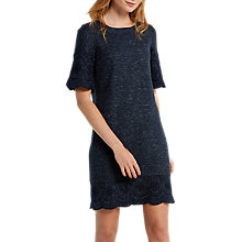 Buy White Stuff Cutwork Jersey Dress, Midnight Blue Online at johnlewis.com