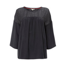 Buy White Stuff Misu Lace Top, Smoky Grey Online at johnlewis.com