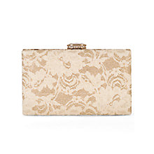 Buy Chesca Lace Detail Clutch Bag, Gold Online at johnlewis.com