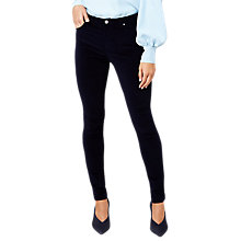 Buy Hobbs Rivington Velvet Jeans, Midnight Online at johnlewis.com