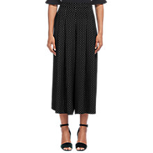 Buy Whistles Amena Pleated Trousers, Black Online at johnlewis.com