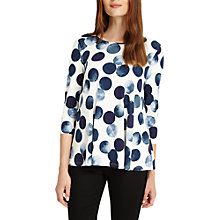 Buy Phase Eight Saffi Spot Top, Multi/Navy Online at johnlewis.com