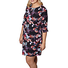 Buy Yumi Curves Nouvea Floral Tunic Dress, Black Online at johnlewis.com