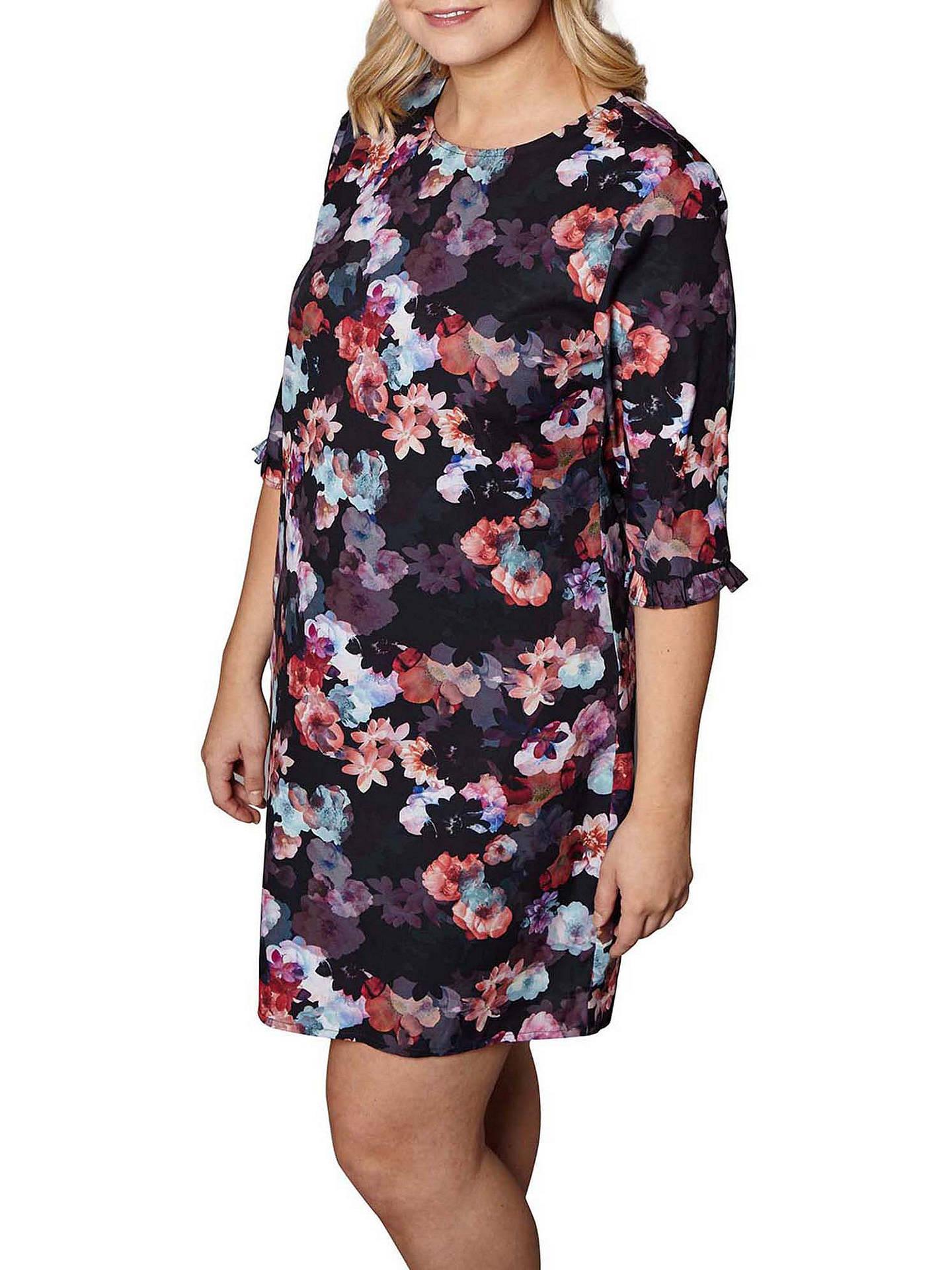 91cabec36dd Buy Yumi Curves Nouvea Floral Tunic Dress, Black, 18 Online at  johnlewis.com ...