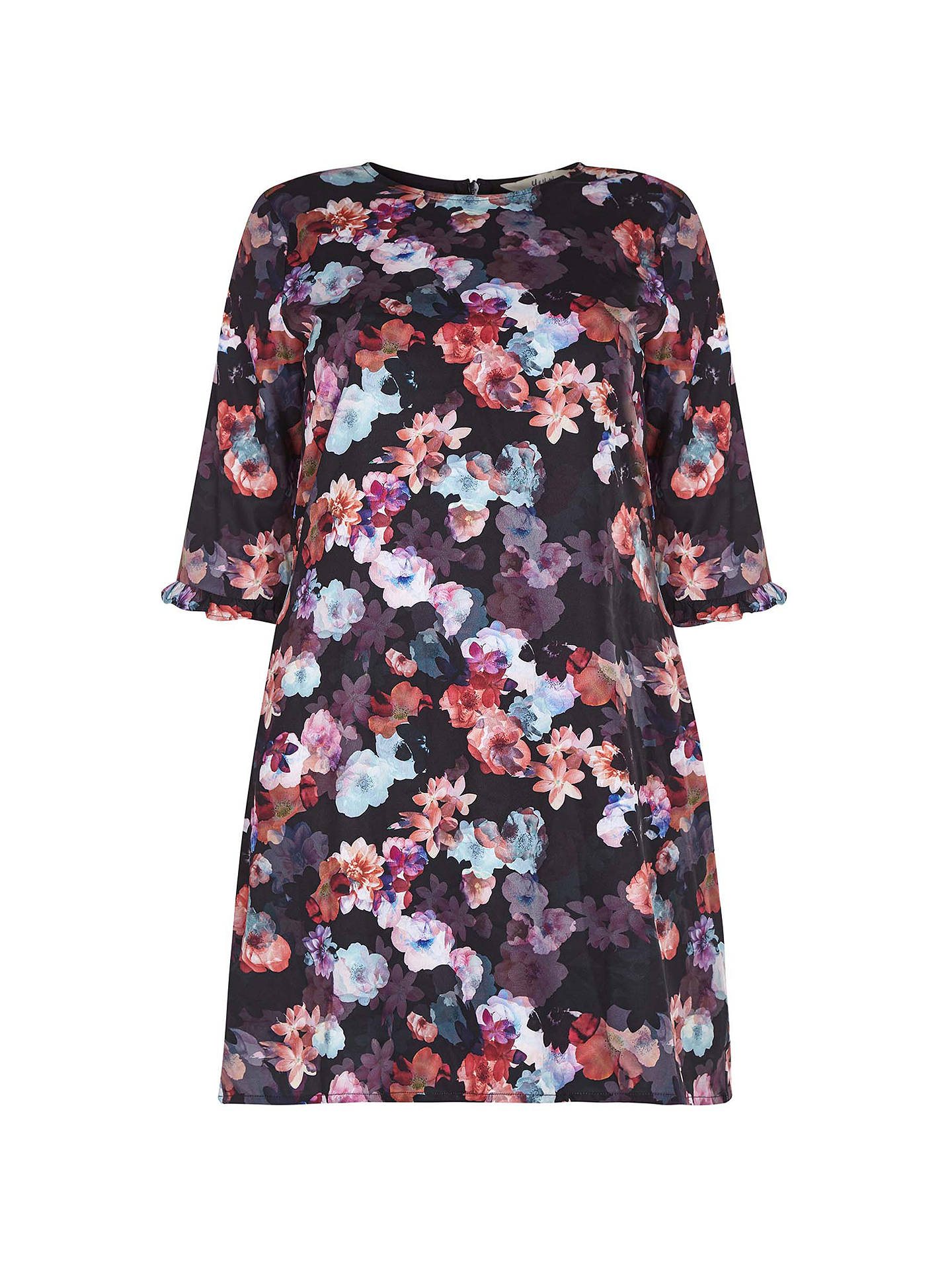 4099a259992 ... Buy Yumi Curves Nouvea Floral Tunic Dress, Black, 18 Online at  johnlewis.com ...