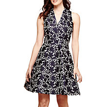 Buy Yumi Floral Jacquard Party Dress, Petrol Blue Online at johnlewis.com