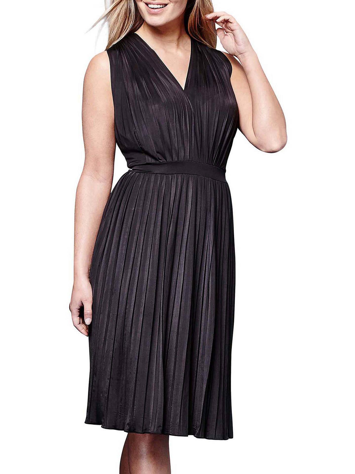 946e8868a5f Buy Yumi Pleated Midi Jersey Dress, Black, 8 Online at johnlewis.com ...