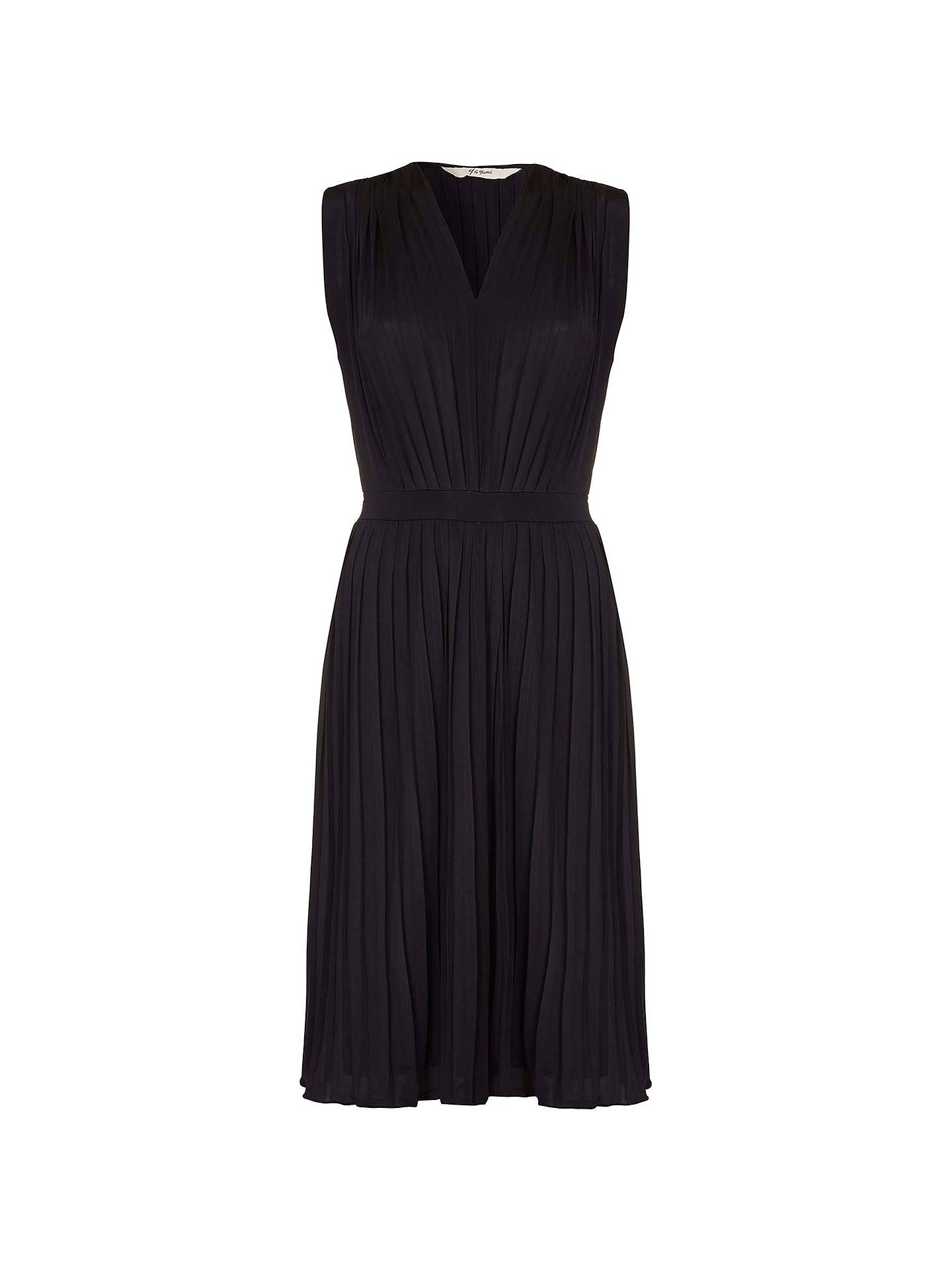 9510c474331 ... Buy Yumi Pleated Midi Jersey Dress, Black, 8 Online at johnlewis.com ...