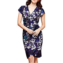 Buy Yumi Botanical Print Wrap Dress, Navy Online at johnlewis.com