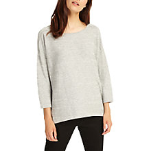 Buy Phase Eight Zan Zig Zag Knit Top, Grey Online at johnlewis.com