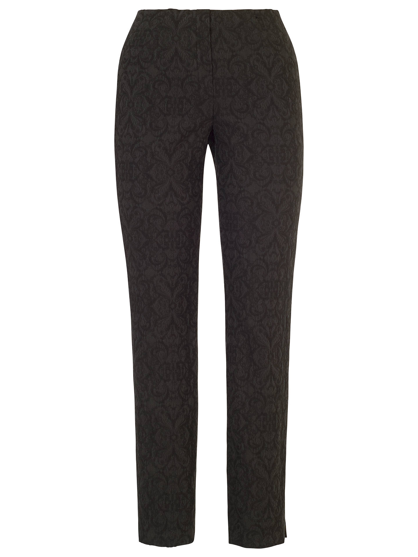 BuyChesca Jacquard Slim Stretch Trousers, Black, 14 Online at johnlewis.com
