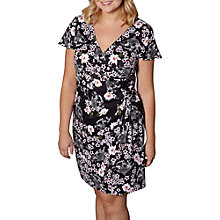 Buy Yumi Curves Oriental Botanical Print Jersey Dress, Black Online at johnlewis.com