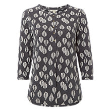 Buy White Stuff Lotta Jersey Shirt, Smoky Grey Print Online at johnlewis.com