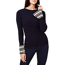 Buy Hobbs April Jumper, Navy Online at johnlewis.com