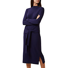Buy Hobbs Tilly Tie Waist Dress, French Navy Online at johnlewis.com