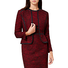 Buy Hobbs Florrie Tailored Jacket, Red/Black Online at johnlewis.com