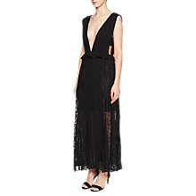 Buy French Connection Angelina Pleated Jersey Dress, Black Online at johnlewis.com