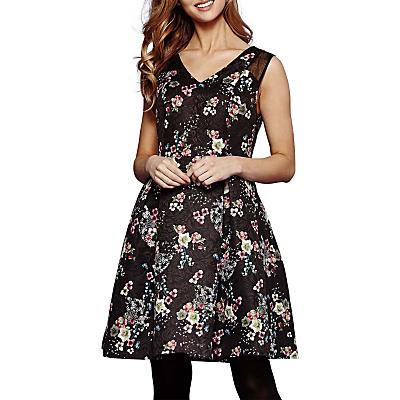 Yumi Oriental Floral Print Dress, Black