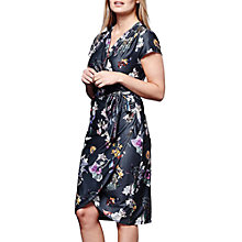 Buy Yumi Winter Floral Wrap Dress, Dark Grey Online at johnlewis.com