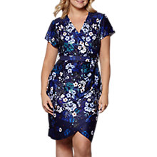 Buy Yumi Curves Botanical Stardust Dress, Navy Online at johnlewis.com