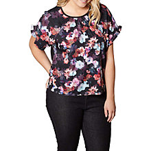 Buy Yumi Curves Nouveau Floral Print Top Online at johnlewis.com