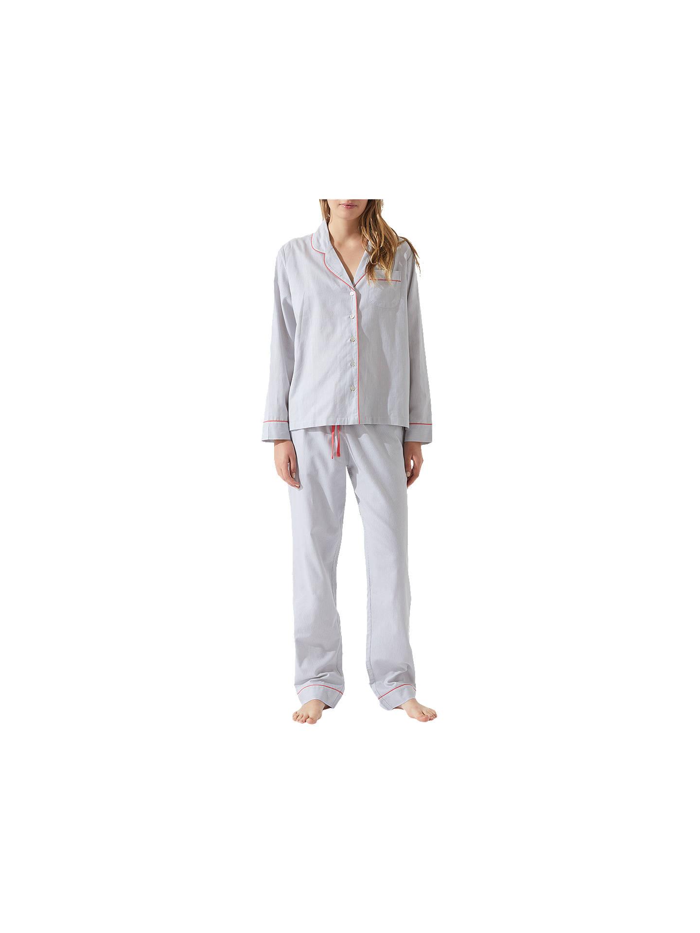 d6a156290 Buy Jigsaw Florence Cotton Blend Pyjamas, Grey, XS Online at johnlewis.com  ...