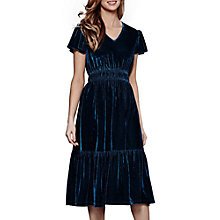 Buy Yumi Ruched Velvet Midi Dress, Jade Online at johnlewis.com