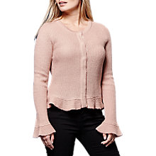 Buy Yumi Peplum Hem Cardigan, Dusty Pink Online at johnlewis.com