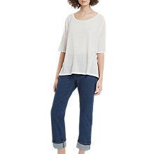 Buy French Connection Hetty Oversized T-Shirt, White Online at johnlewis.com