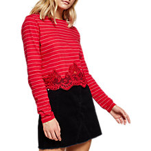 Buy Miss Selfridge Crochet Trim Top Online at johnlewis.com