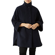 Buy Fenn Wright Manson Petite Sofia Cape, Navy Online at johnlewis.com