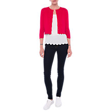 Buy French Connection Lela Crepe Knit Cardigan Online at johnlewis.com