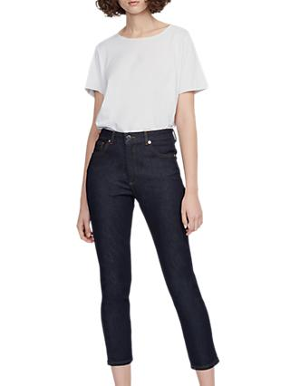 French Connection Pin Up Girlfriend Jeans, Sepia Rinse